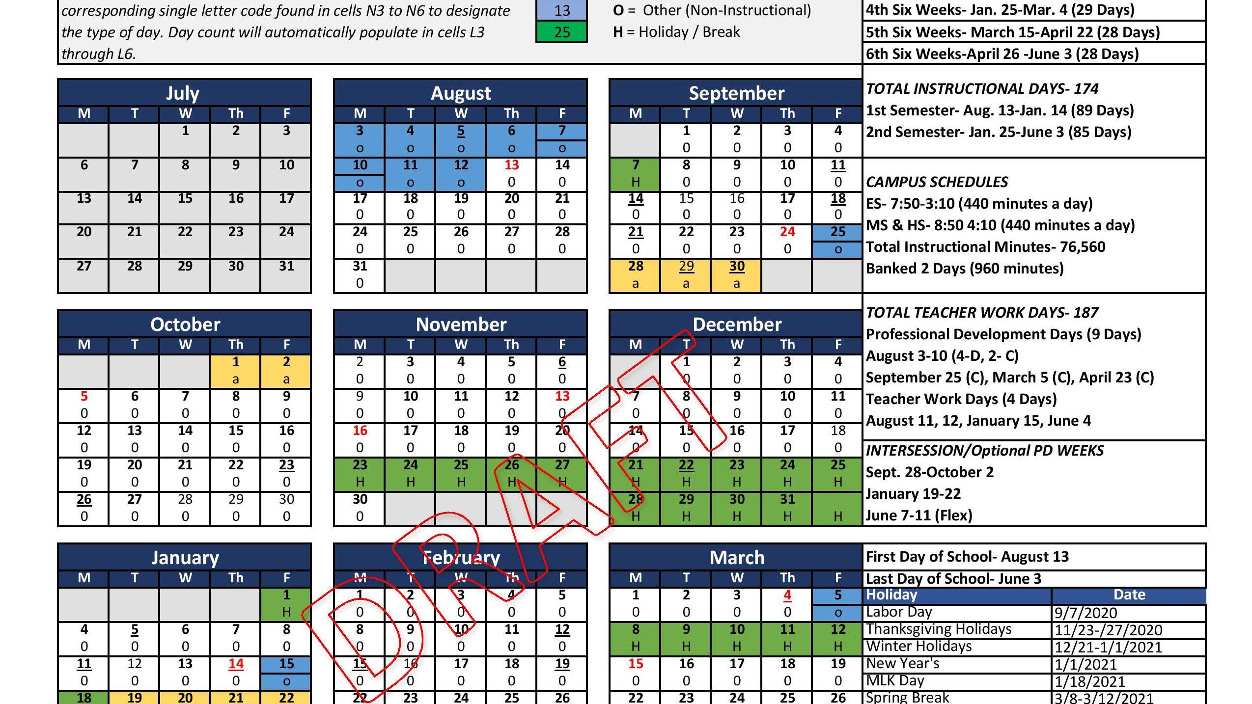 Tamu Academic Calendar 2022.Corpus Christi Isd Board Approves Year Round 2020 21 Calendar