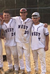 Cherry Hill West seniors (from left) Nick Sylvester, Ryan West and Danny Breckman celebrate after winning the South Jersey Group 3 title last year.