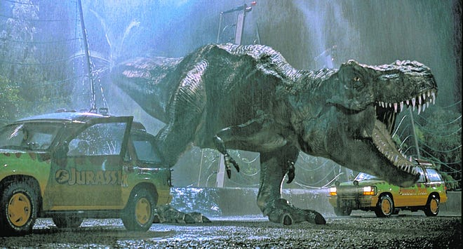 """Theaters are playing lots of classics during this COVID-19-affected stretch, like """"Jurassic Park."""""""
