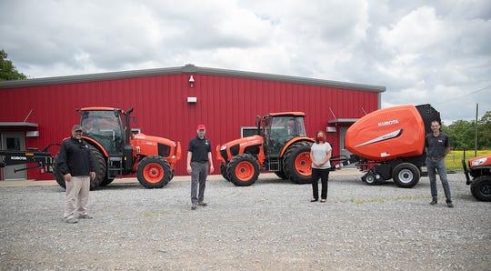 Michael Stolitca (Kubota), Dr. Donald Sudbrink (APSU), Dr. Karen Meisch (APSU), Spencer Coleman (Coleman Tractor).
