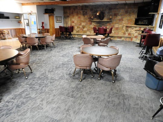New carpeting was part of updates recently completed at the Coshocton Moose Lodge.