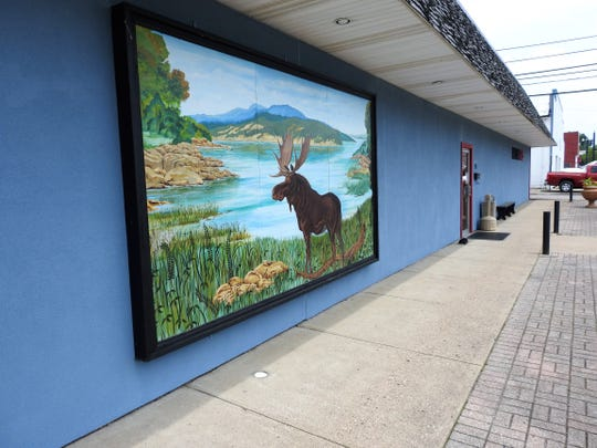 The outside of the Coshocton Moose Lodge was painting during the recent closure related to the COVID-19 pandemic.