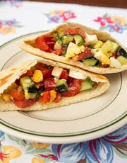 Try this Israeli salad sandwich recipe for breakfast one morning.