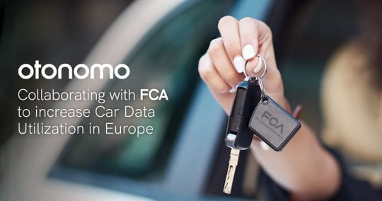 Otonomo is collaborating with Fiat Chrysler Automobiles NV to increase access to data from vehicles in the European Union.