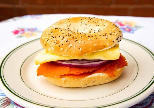 An Egg McLox Bagel Sandwich that you can make for breakfast.