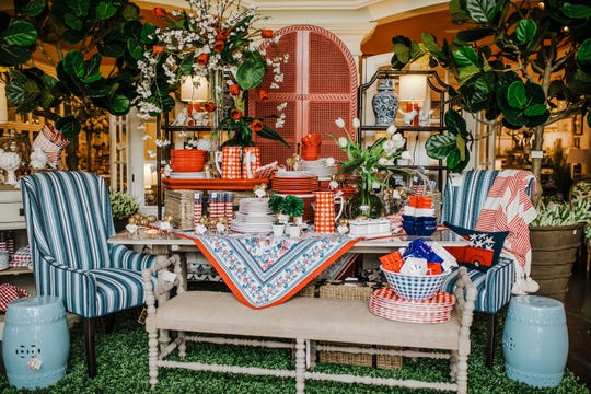 Mixing traditional items with touches of stars, stripes and Americana is a perfect way to celebrate the season. (Katie Laughridge/TNS)