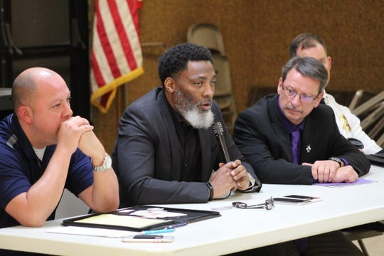 """Pastor Luther McKinstry III, shown here speaking at the rorum in November, moderated the Fremont Community Relations Commission's community forum """"#ICantBreathe: Our Community's Response,"""" Sunday on the city's Facebook page."""