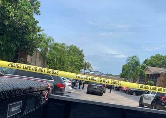 A person suffered life-threatening injuries after a shooting at an apartment complex off Colonial Boulevard in Fort Myers Monday afternoon.
