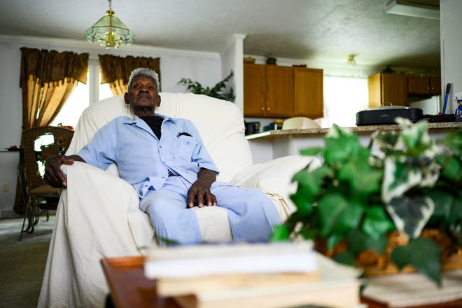 Gilbert Ware, 86, talks about his mental state while robbing a Bank of America branch earlier this year while speaking in his living room Monday, June 8, 2020.