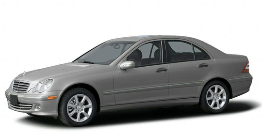 Authorities say the elderly woman drove away in a silver 2006 Mercedes Benz C280, like the one pictured here.