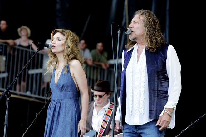 Alison Krauss and Robert Plant perform at Bonnaroo in Manchester, Tenn., on June 15, 2008.