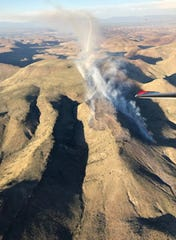 The view from an aerial reconnaissance flight over the Uvas Fire on June 6.