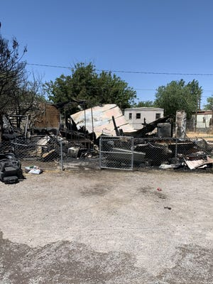 A residential fire on the 4800 block of South Main Street destroyed a single wide mobile home Monday morning, June 8, 2020. Firefighters with Doña Ana County Fire and Emergency Services  contained the fire within an hour of it being reported.