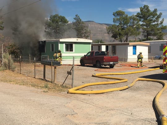 A fire broke out in the 1100 block of Mesquite on June 4, 2020. No injuries were reported.