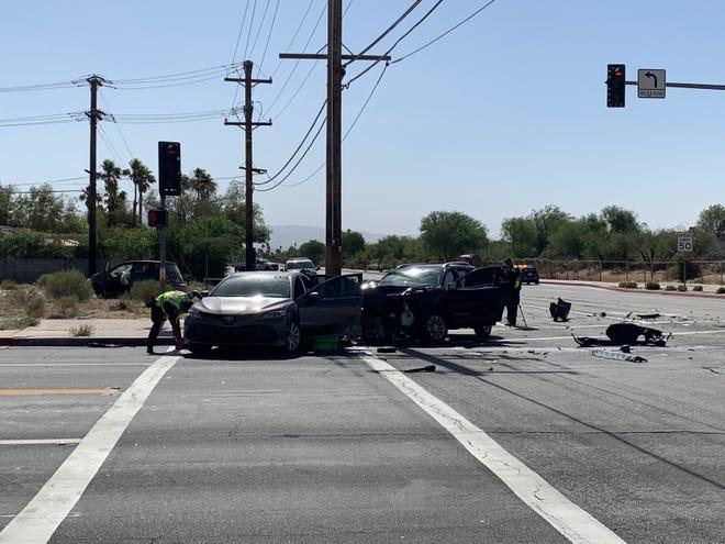 A three-car crash on June 8 shut down Vista Chino.