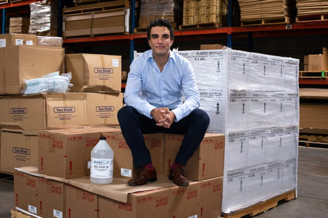 A portrait of Charles Sacks, CEO,  in the Fixture Zone warehouse on May 27, 2020.