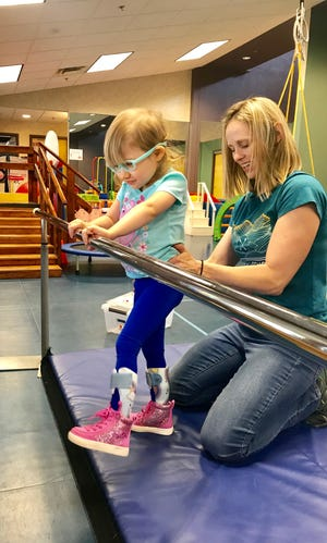 Alexandra Anderson undergoes therapy at United Cerebral Palsy.