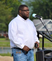 Pastor Anton Jackson of Erie Shores Assembly of God encouraged the crowd to find the strength to love others by remembering how much God loves them.