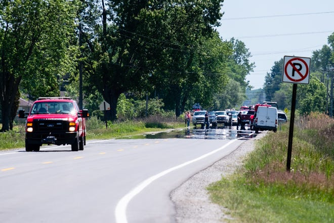 Kimball Township Fire Department responded to a car fire on Wadhams Road Monday, June 8, 2020, in Kimball Township.