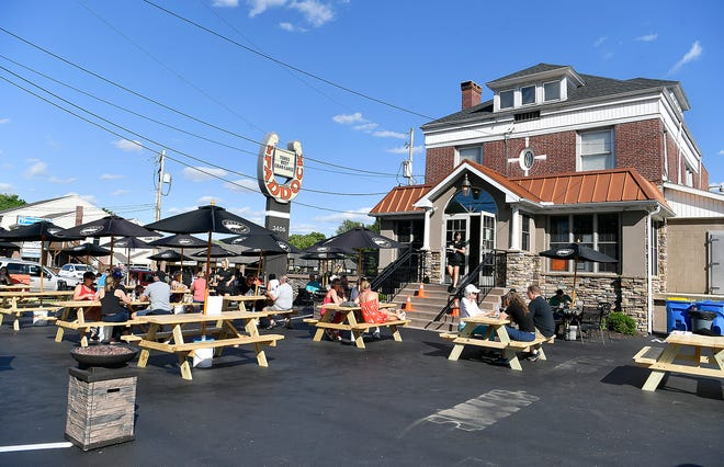 The Paddock on Market in Springettsbury Township opened this weekend with outdoor seating for customers. Named the Inaugural Paddock's Pop-up Patio, the outdoor dining is a big change of business for The Paddock, a family-owned restaurant for 70 years. Sunday, June 7, 2020.