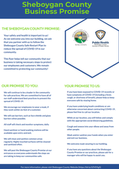 Business who wish to participate in the Sheboygan County Business Promise can hang this flyer in a prominent location.