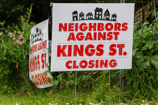 Many Phelps Grove neighborhood residents are opposed to closing the Kings Avenue bridge and parking changes at Springfield Art Museum. Residents placed signs near their homes that could be seen on June 8, 2020.