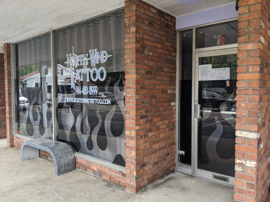 The storefront of North Wind Tattoo in Montrose.