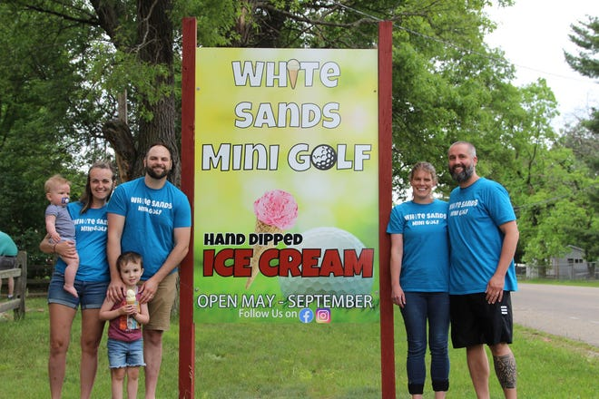 Shelly and Ben Eberlein and Krystal and Zach Coleman are the new managers of White Sands Mini Golf.