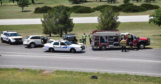 The driver of a black Ford Festiva died when he collided head-on with tan Ford travelling southbound on U.S. Highway 287 near Windthorst Road the afternoon of June 8 as shown in this June 8, 2020, file photo.  The black male driver of the Fiesta was driving northbound in the southbound lanes at the time.