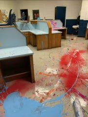 The Altus, Okla., Police Department posted photos of damage suffered at the Altus Immediate School after three juveniles -- the youngest 6 years old -- are accused of causing $50,000 in damage. The juveniles were released to the custody of their parents.