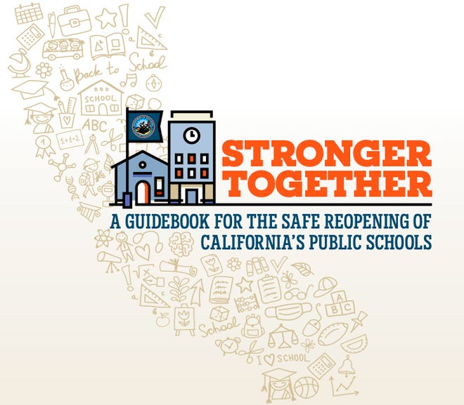 """""""Stronger Together: A Guidebook for the Safe Reopening of California's Public Schools"""" is a manual designed to serve as a road map for school districts as they prepare for the return of classes in the fall."""