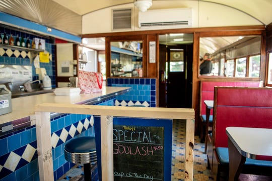 When Gilmore Car Museum reopens to the public on Friday, guests will not be permitted to dine inside George Sally's Blue Moon Diner due to COVID-19, pictured on Monday, June 8, 2020 in Hickory Corners, Mich.