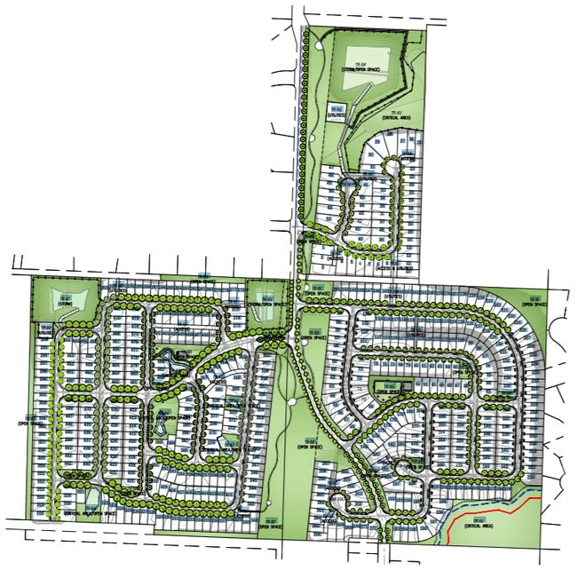 Design drawings for a proposed 500-home development off Eldorado Boulevard in Central Kitsap.