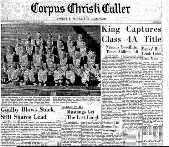 King beat Abilene Cooper 1-0 to win the Class 4A state baseball championship in 1967.