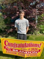 Brandon Anderberg is one of about 500 students in the Edison High School Class of 2020
