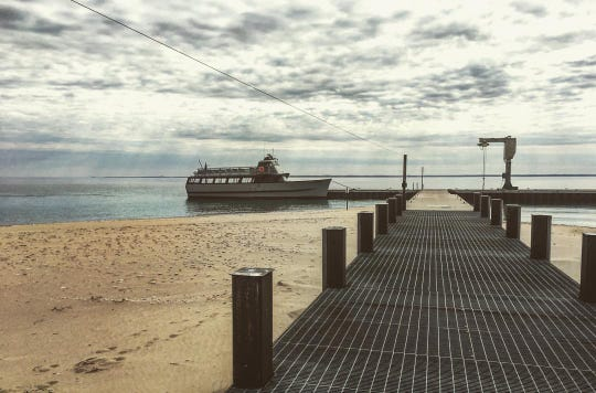 Manitou Island Transit has docks located in both North and South Islands.