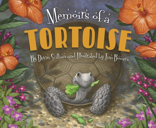 """""""Memoirs of a Tortoise,"""" by Devin Scillian and illustrated by Tim Bowers"""