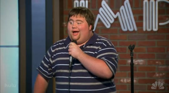 "Paul Walter Hauser auditioning for ""Last Comic Standing."""