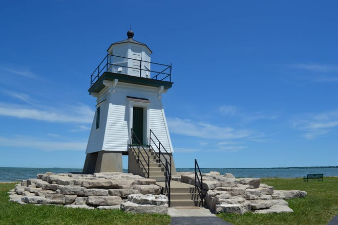 Guests on Walk Erie Tours guided walking tours in Port Clinton will hear stories of mainland life – including tales about the Port Clinton Lighthouse, shown here – and the people who made history by and on the lake.