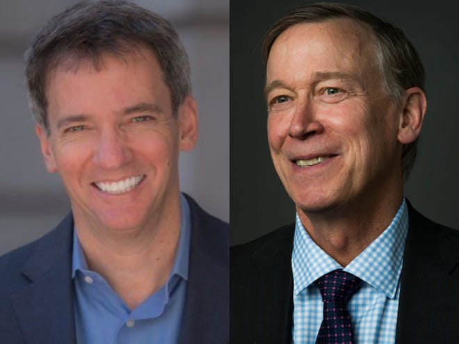 Andrew Romanoff, left, and John Hickenlooper will face each other in the June 30 primary.