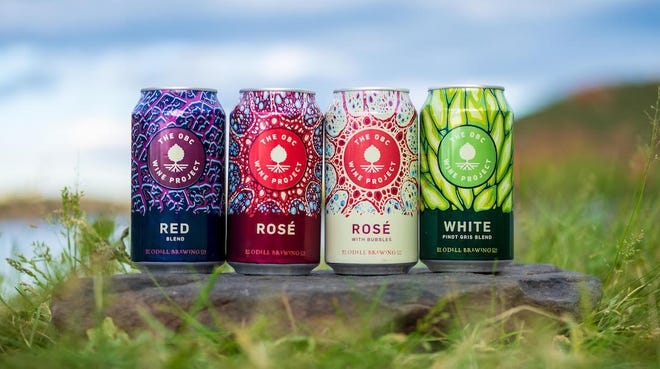 Odell Wine Project's first line of canned wines includes a red blend, white pinot gris blend, a rosé  and a rosé  with bubbles.