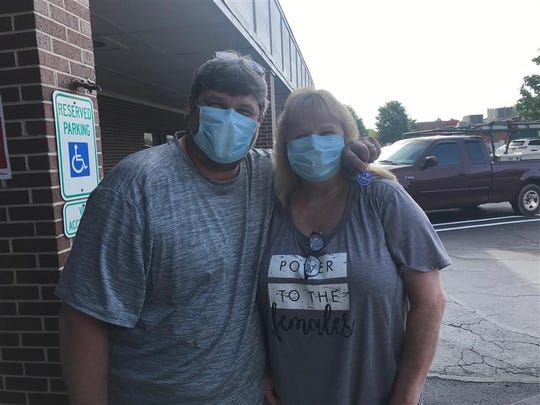 Pam and Bob Fowler have mostly stayed in their house since the coronavirus pandemic started, but they came out to vote June 9, 2020 at at Crosspoint Church on Tiger Blvd.