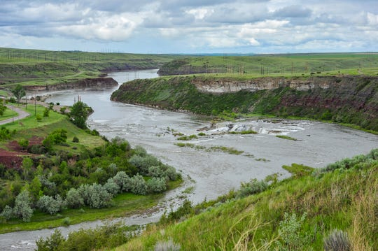 The Missouri River below Rainbow Dam, Monday, June 8, 2020.
