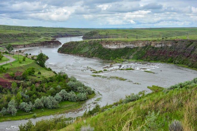 The Missouri River below Rainbow Dam, Monday, June 8, 2020.
