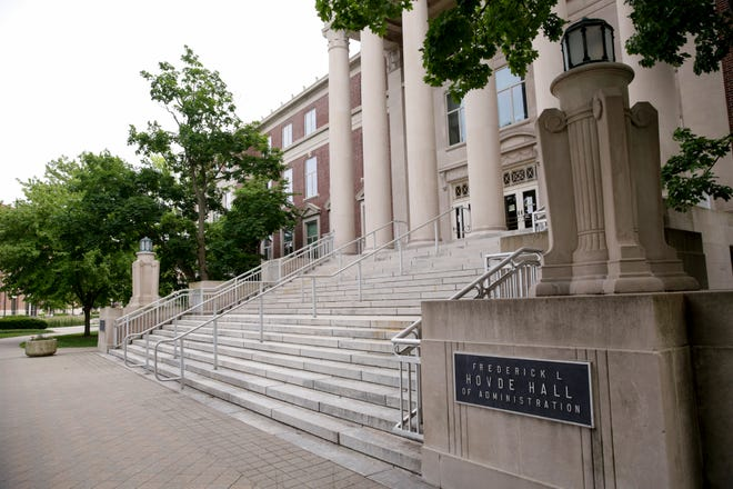 Purdue University's Frederick L. Hovde Hall of Administration, Monday, June 8, 2020 in West Lafayette.