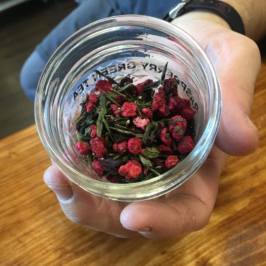 Huya's tea is from Rishi Tea. One process David enjoys watching is tea leaves disperse their color and aroma into a glass, making for a whole experience outside of just tasting the drink.