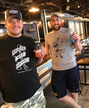 Dan McElwee, left and Tim Pauly, owners of Broken Bat Brewing, will join with MobCraft Beer and Merriment Social for Party on Pitt, a pop-up beer garden each weekend starting Sept. 4 through Oct. 31.