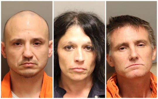 Corey Colley, Tracy Sue Horton and James Arnette were each charged with trafficking meth.
