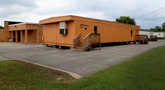 There are several portable beside and behind Christiana Elementary on Tuesday, June 9, 2020.