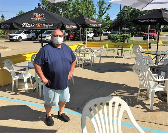 Rose's  Restaurant owner Richie Constantino added an outdoor eating area to his Canton business.